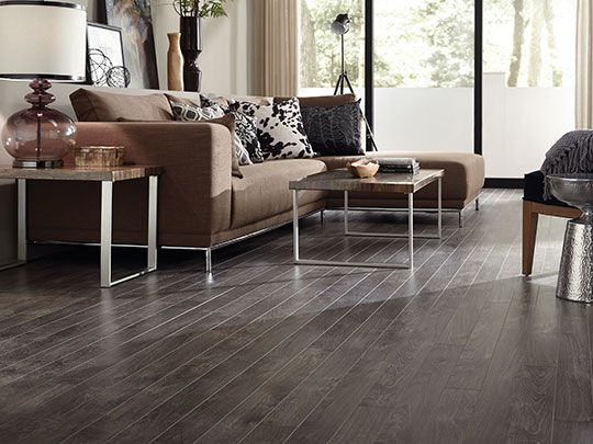 Piso Exclusive 240 Tipo Madera Gris Oscuro Konker